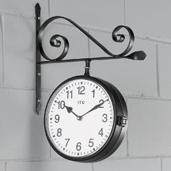 Double Sided Wall Clock