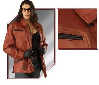Buy Women's Leather Motorcycle Jacket