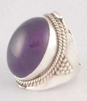 Buy Cabochon AMETHYST and STERLING SILVER RING