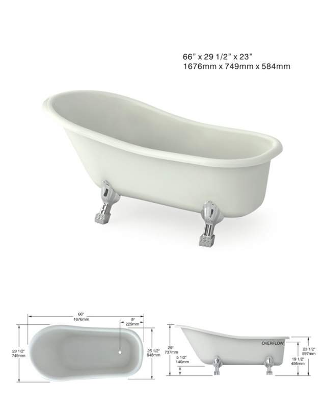 Bathtub Elegance 66x29