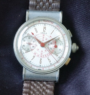 Buy #5288 Rare triple button 40's vintage Lorie chronograph Watches