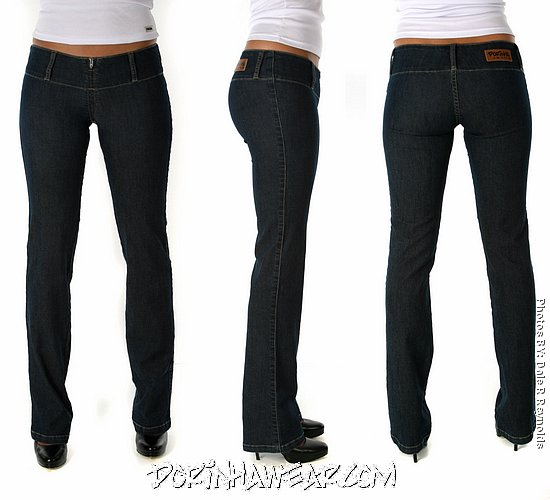 Buy Jeans - Blue - Sexy Low Rise - Wide Waist Band.