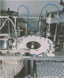 Buy M 19 Intermittent Motion Liquid and Vial Filling And Capping Monobloc