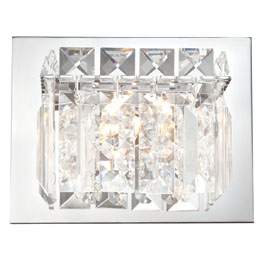 Buy Crown Vanity - 1 Light Clear Crystal glass