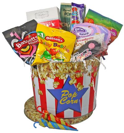 Buy Gourmet Candy Goodie Popcorn Basket