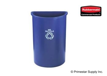 Buy Half Round Recycling Wall Receptacle 79.5 L (30x38 bags)