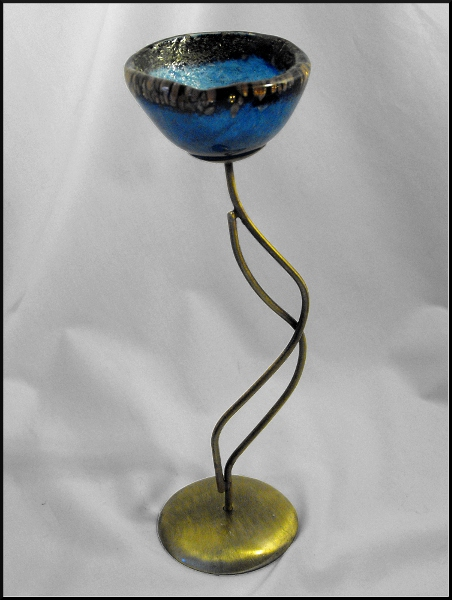 Buy Glass Candle Holder - Fedra Blue Collection