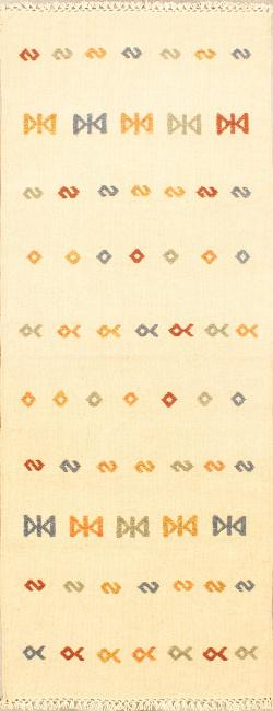 Buy Indian Rugs and Carpets. Jalal tribal 2 Kilim 2'8'' x 9'11''.