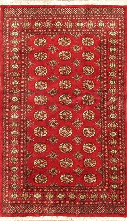 Buy Rugs and Carpets from Pakistan. Finest peshawar Bokhara rug 4'0'' x 6'9''.
