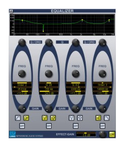 Buy Equalizer with 4 parametric bands and additional Effect-Gain