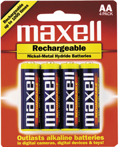 Buy Batteries AA Rechargable maxell NiMH