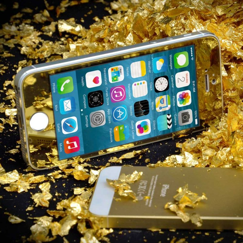 Buy IPhone 5/5s/5c Gold Tempered Glass Naztech Tempered Glass Gold Screen Protector iPhone 5/5c/5s