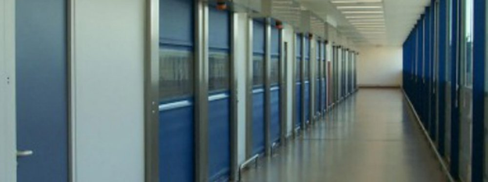 Buy High-speed fabric doors made of PVC curtain and Galvanized Steel frame