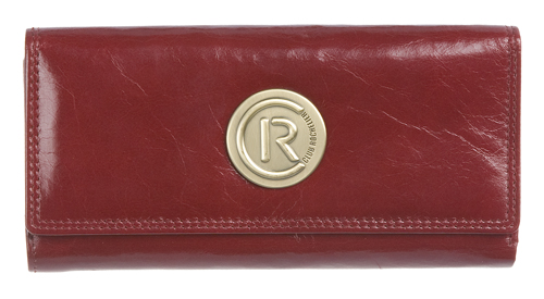SLIM MEDIUM CLUTCH WALLET WITH TAB CLOSURE