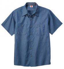 Men's Striped Industrial Shirt