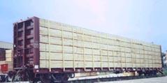 Les wagons la plate-forme