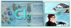 Chlorine for water disinfection, production of
