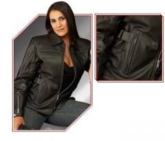 Women's Leather Motorycle Touring Jacket