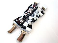 Skull & Checker Cinch Clips