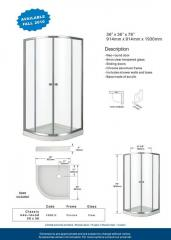 Classic neo-round 36 Shower doors
