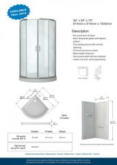 Breeze round 36-2 Acrylic shower enclosures
