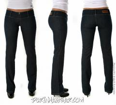 Jeans - Blue - Sexy Low Rise - Wide Waist Band.