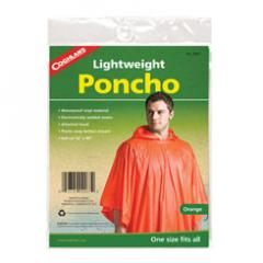 Poncho -- orange Rainwear