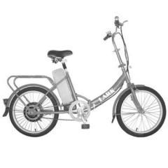 Folding electric bike silver lark