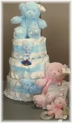 3 Tier Baby Gund Diaper Cake