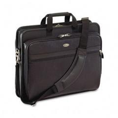 Laptop Case, Leather, 17-1/2 x 6-1/2 x 13-1/2, Black