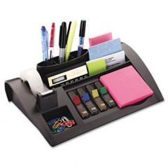 Notes Dispenser with Weighted Base, Plastic, 12 x 8 x 2, Charcoal Gray