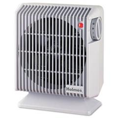 Compact Energy Efficient Heater Fan, Gray, 4.84w x 8.19d x 9.92h
