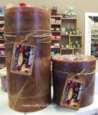 6x12 Rustic Pillar Candles