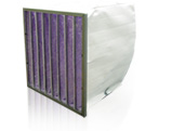Synthetic extended surface pocket filters