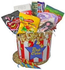 Gourmet Candy Goodie Popcorn Basket