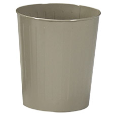 All Steel Round Wastebaskets Safco Fire-Safe