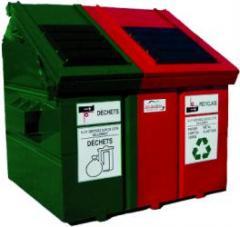 Contenant à déchets et récupération