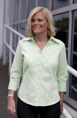 Ladies' Open Neck 3/4 Sleeve Easy Care Shirt. L615