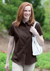 Ladies' Short Sleeve Easy Care Shirt. L510