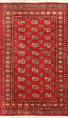 Rugs and Carpets from Pakistan. Finest peshawar Bokhara rug 4'0'' x 6'9''.
