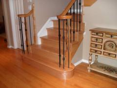 Hardwood flooring. Stairs and Railings.