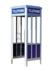 J-800 aluminum outside telephone booth (eounded edges)