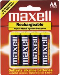 Batteries AA Rechargable maxell NiMH