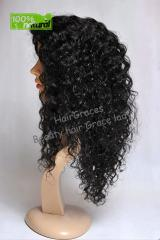 Perruque Front Lace en cheveux Bresilien vierge boucle