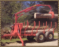 Hydraulic Log Loader with power pack,trailer and grapple
