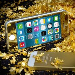 IPhone 5/5s/5c Gold Tempered Glass Naztech Tempered Glass Gold Screen Protector iPhone 5/5c/5s
