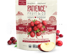 Organic Whole & Juicy Dried Cranberries, sweetened with apple juice