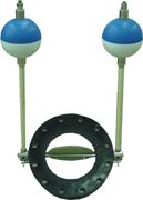 In-line modulating float valves