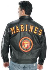 Marines leather bomber jacket