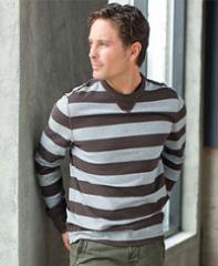 DH3 Wide Stripe Crewneck T-shirt